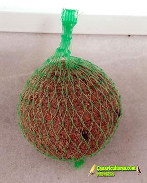 Bola de grasa canarios